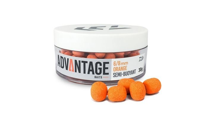 Daiwa Advantage Hakenköder - 6/8mm - Orange Chocolate